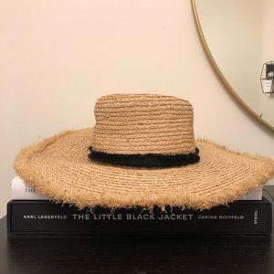 Zara straw floppy hat